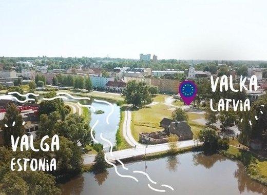 The heart of the twin city of Valga-Valka
